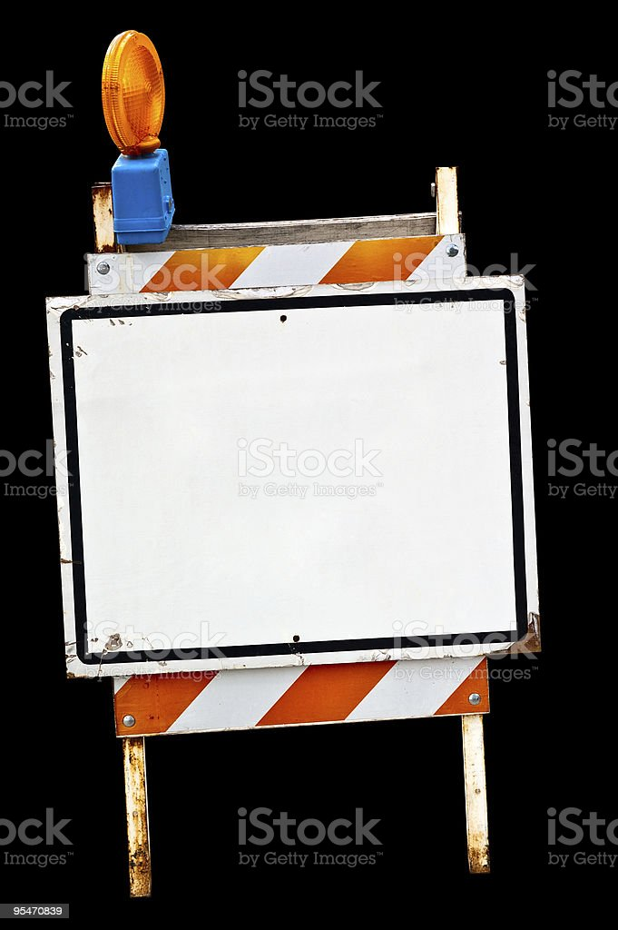 Empty sidewalk sign royalty-free stock photo