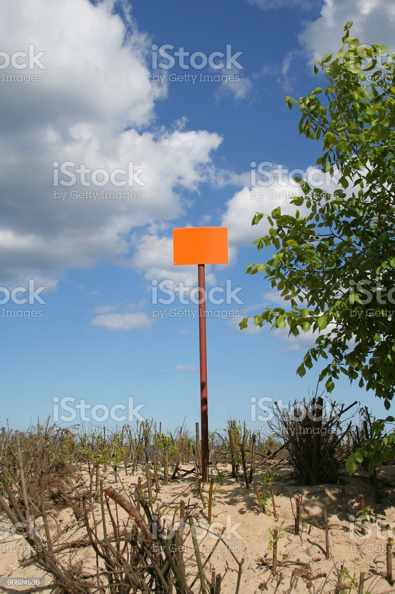 empty sign post against the sky royalty-free stock photo