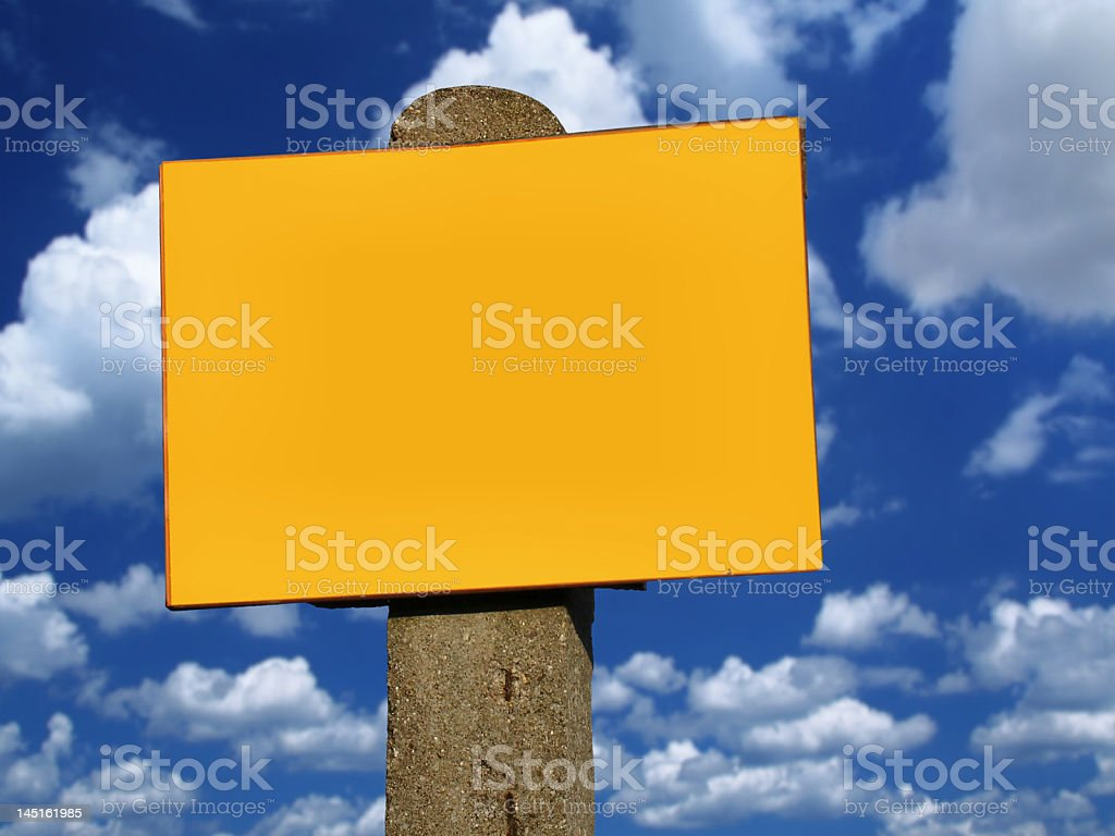 empty sign post royalty-free stock photo