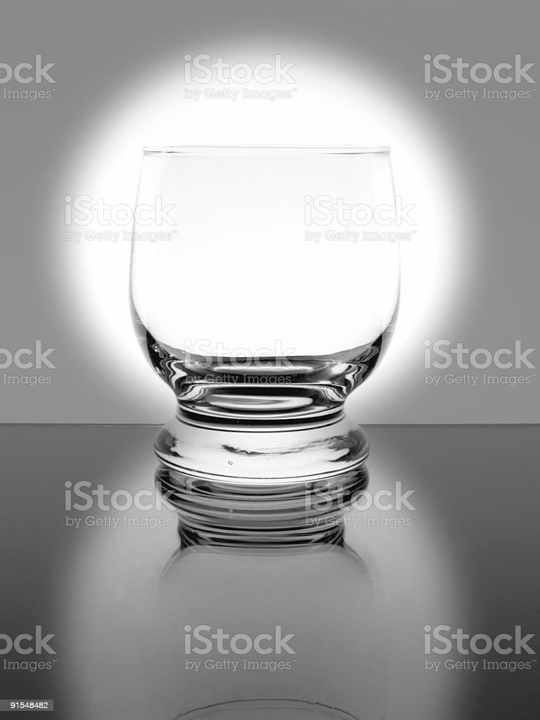 Empty single glass stock photo