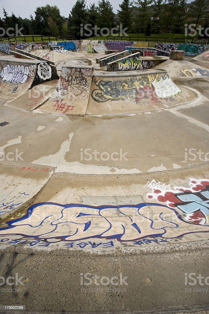 Empty skatepark royalty-free stock photo