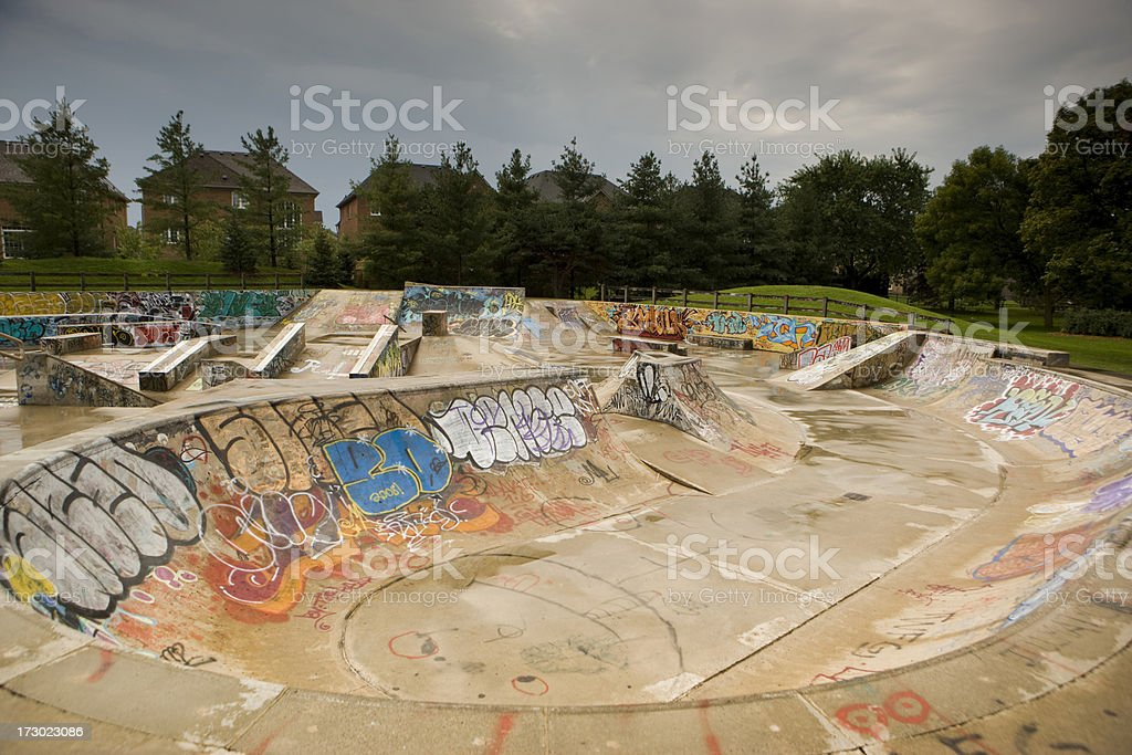 Empty skatepark royalty-free stock photo