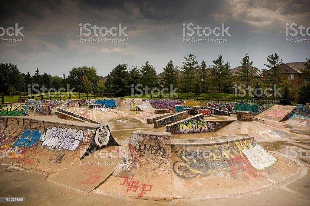 Empty skatepark stock photo