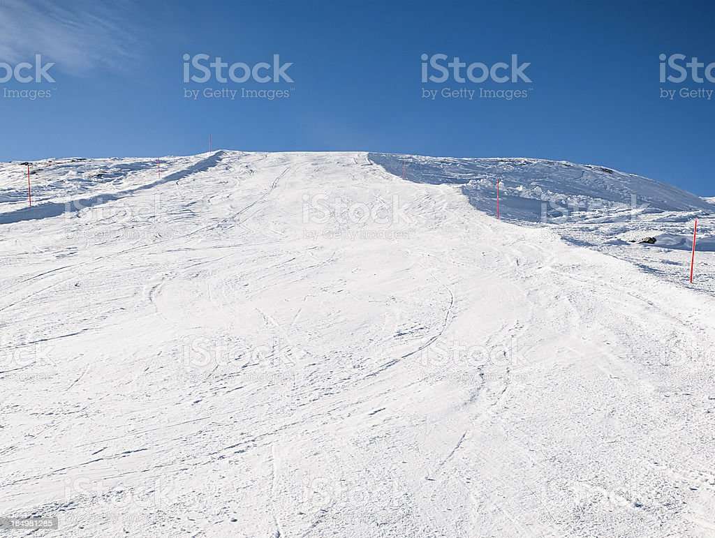 Empty Ski Slope Background royalty-free stock photo