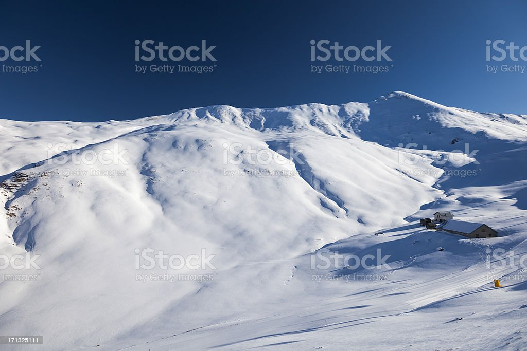 Empty ski slope royalty-free stock photo