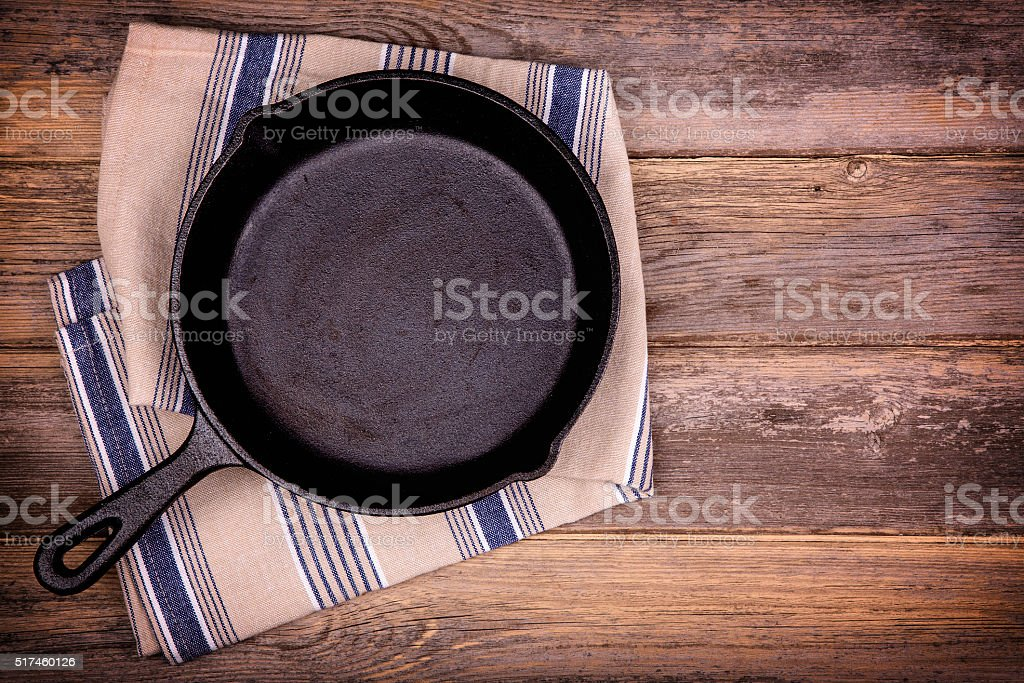 Empty skillet stock photo