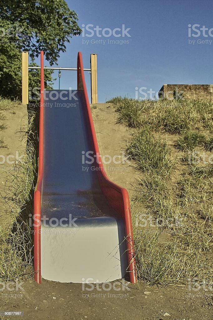 Empty Slide stock photo