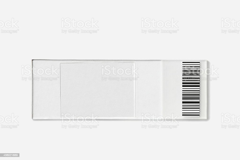 Empty slide with barcode used for forensic medicine stock photo