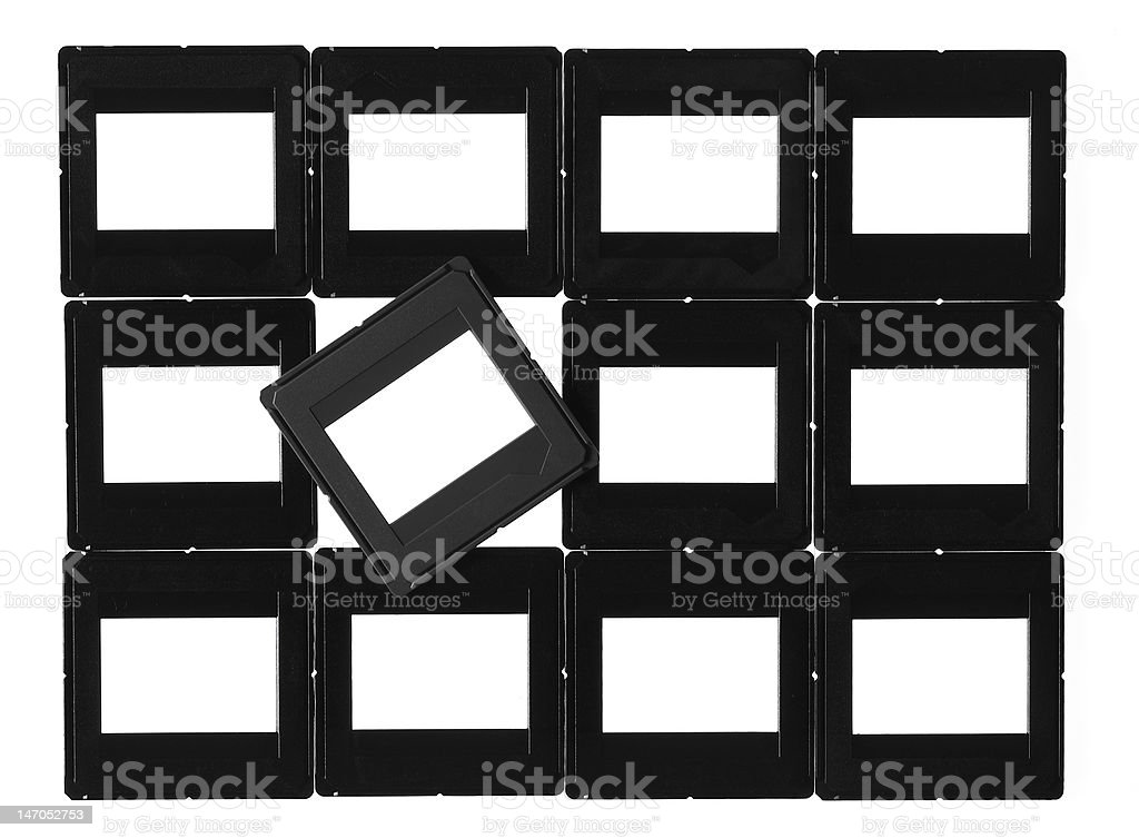 Empty slides frames. royalty-free stock photo