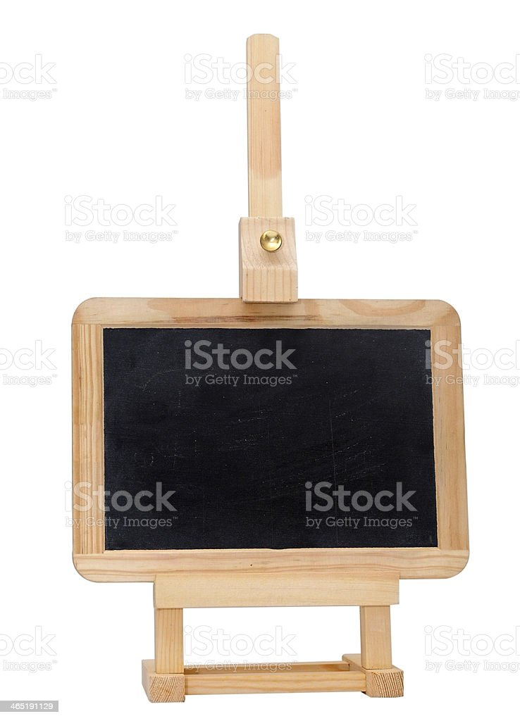 Empty small blackboard on easel stock photo