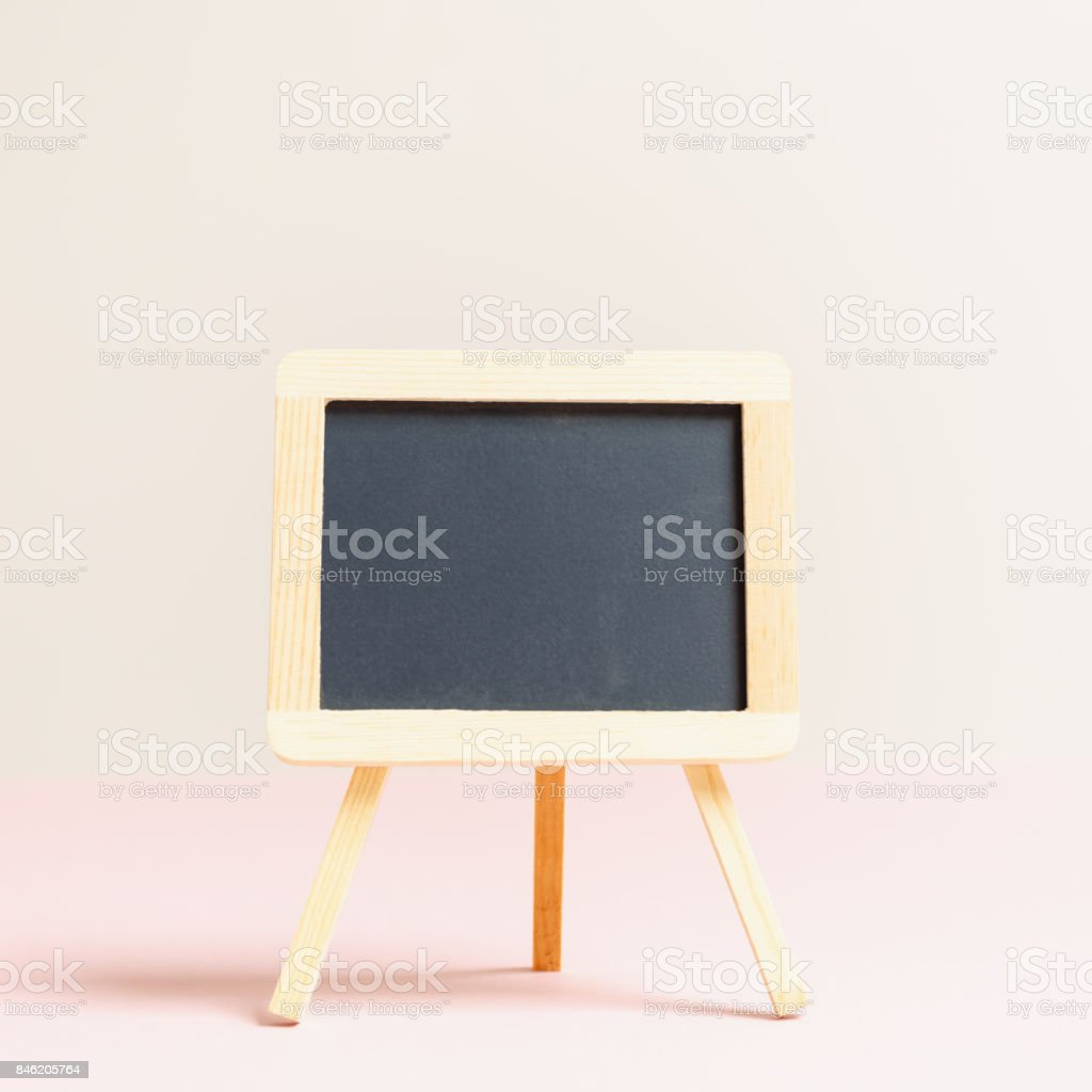 Empty small charcoal board. Empty background stock photo