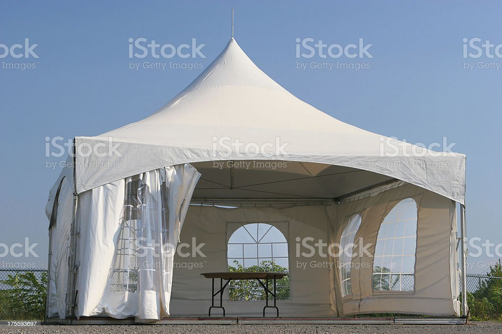 Empty Small Tent Kiosk royalty-free stock photo