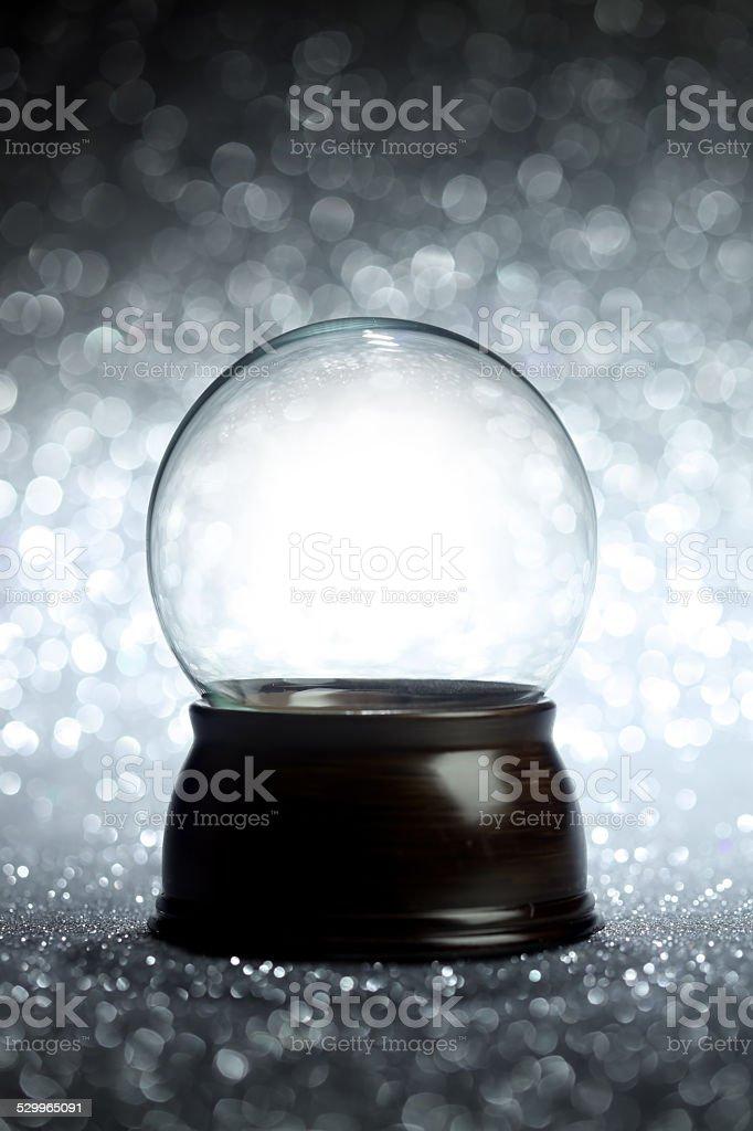 Empty snow globe stock photo