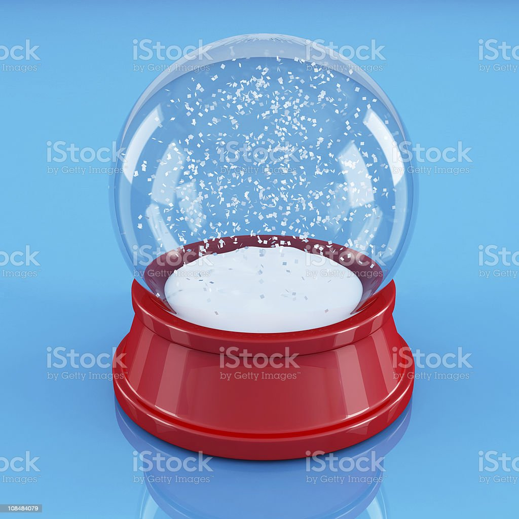 empty snowglobe royalty-free stock photo