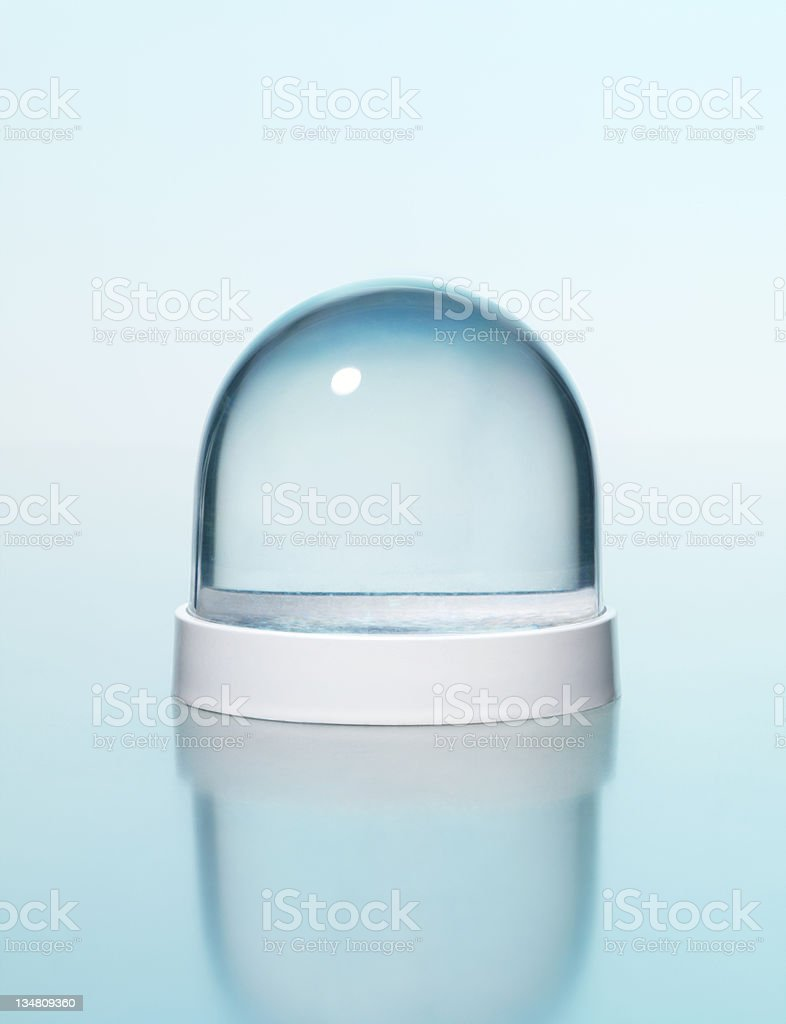 Empty snowglobe stock photo