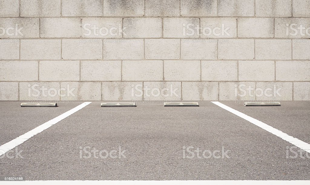 Empty space of outdoor car parking lot stock photo