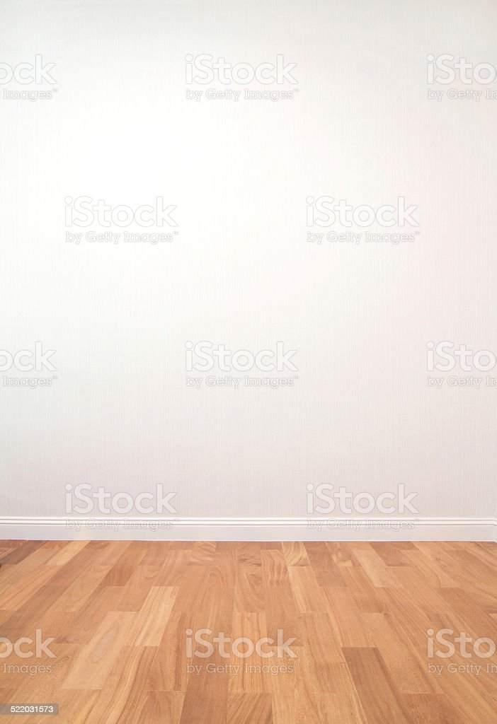 Empty space with wall and wooden floor stock photo