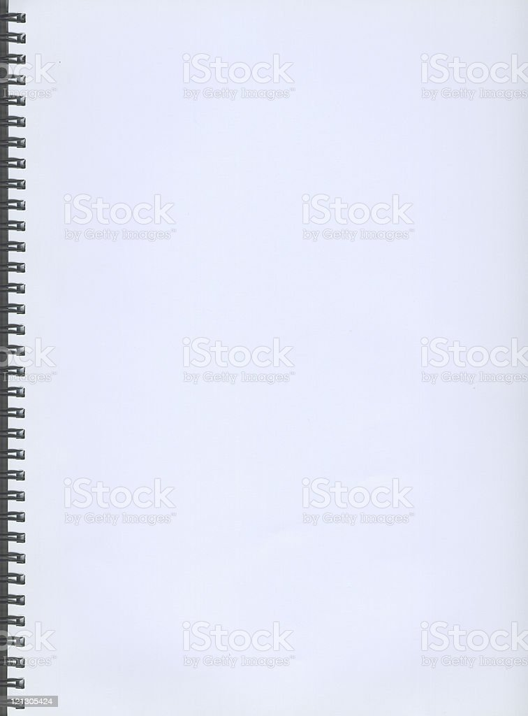 empty spiral notebook royalty-free stock photo