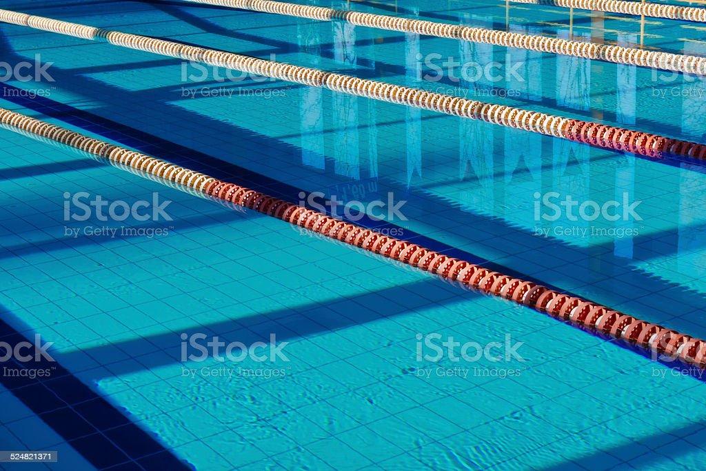 Empty Sport Swimming Pool stock photo