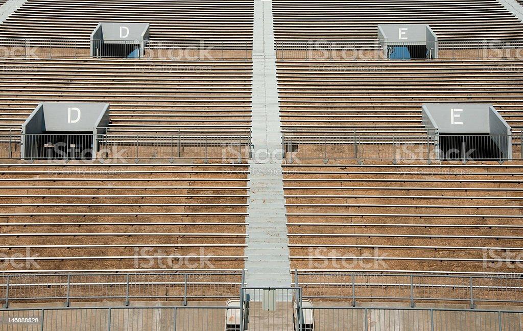 Empty Sports Stadium royalty-free stock photo