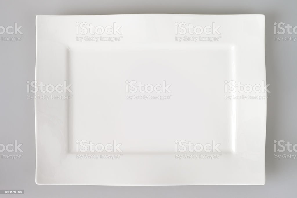 Empty Square Plate stock photo