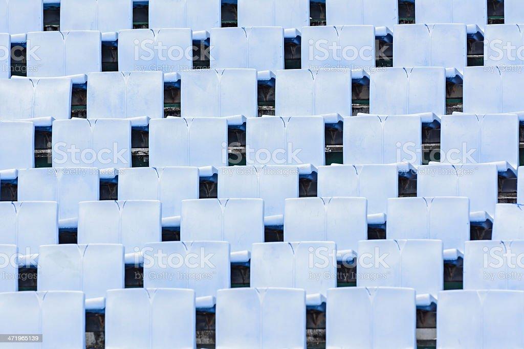 empty stadium old grandstands stock photo