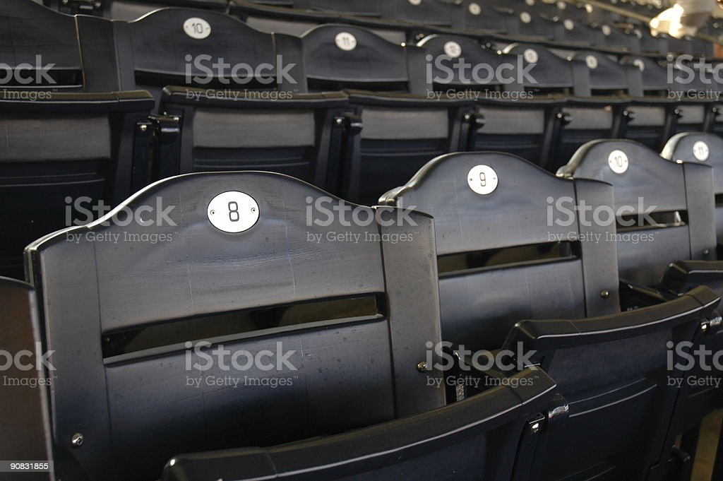 Empty Stadium Seating royalty-free stock photo