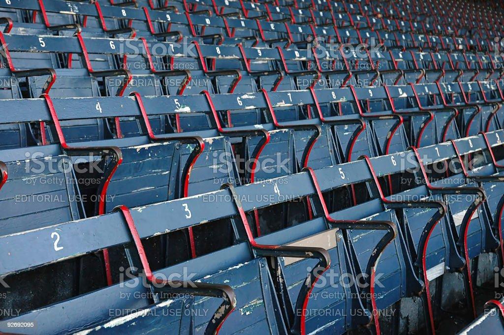 Empty Stadium Seating royalty-free stock photo