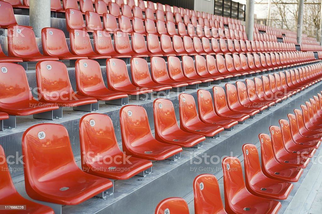 Empty stadium seats royalty-free stock photo