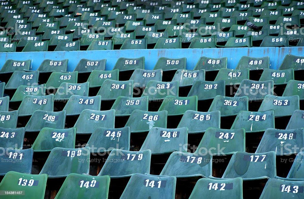 Empty stadium seats royalty-free stock photo