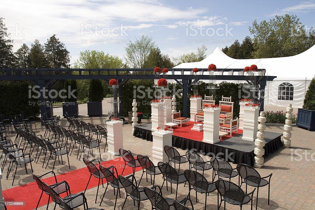 empty stage at hindu wedding royalty-free stock photo