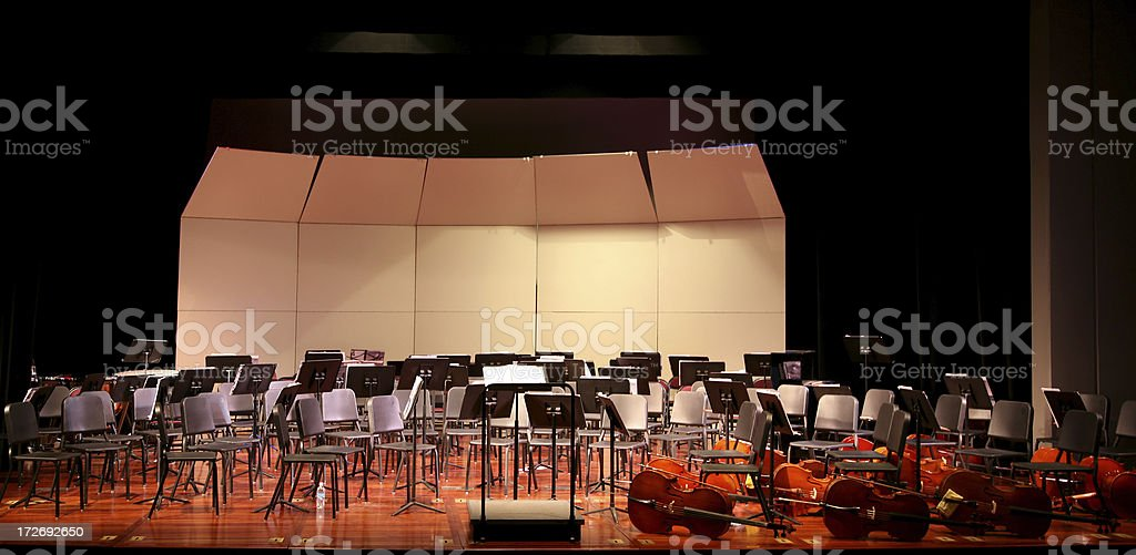Empty Stage Before Concert royalty-free stock photo