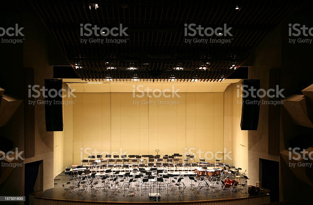 Empty Stage in Concert Hall royalty-free stock photo