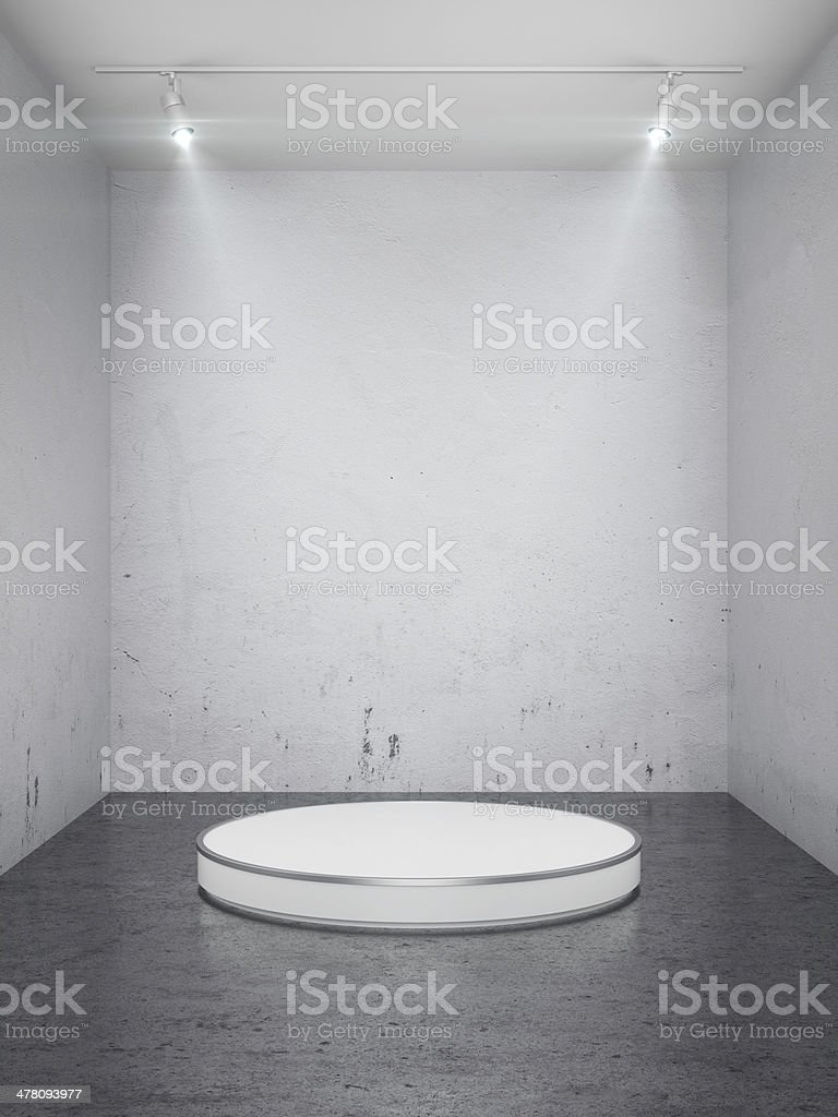 Empty stage in interior royalty-free stock photo