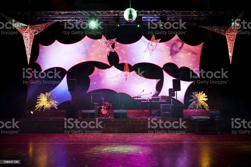 Empty Stage royalty-free stock photo