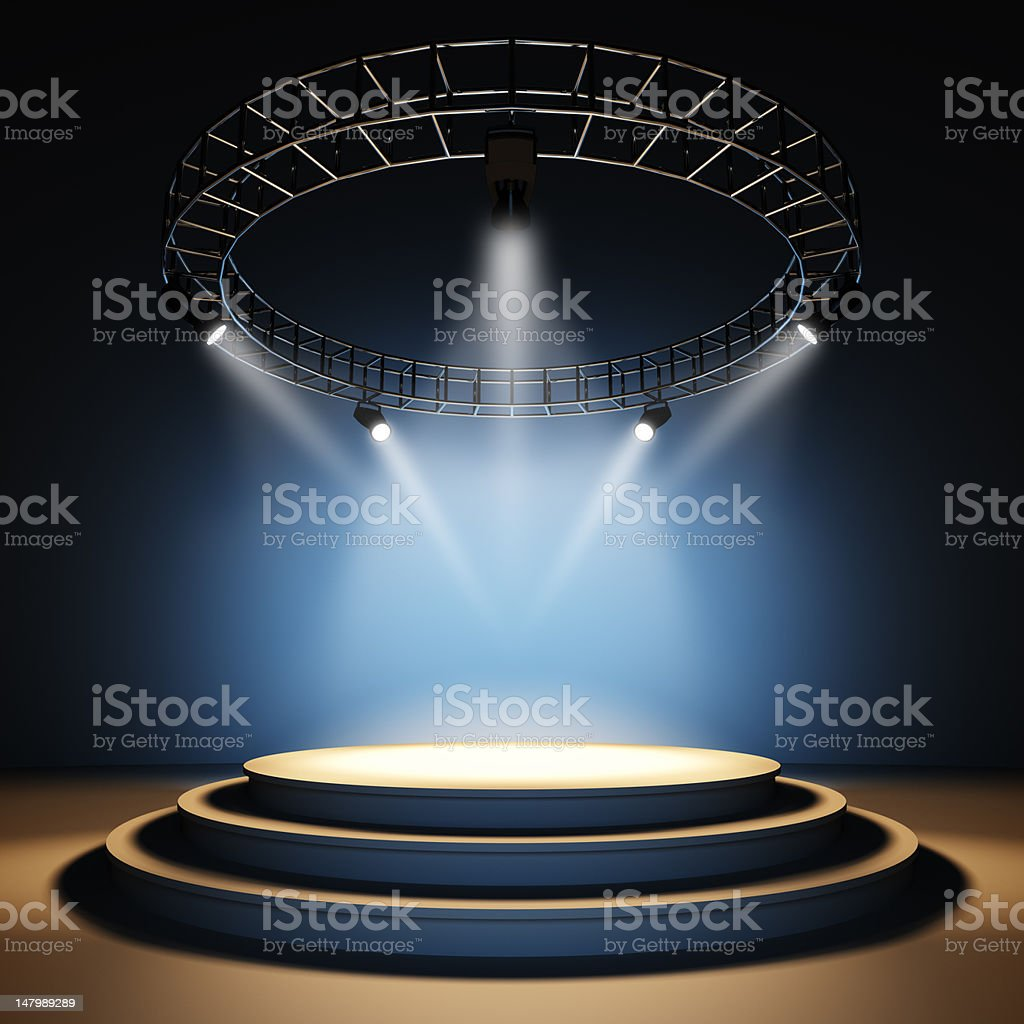 Empty stage. stock photo