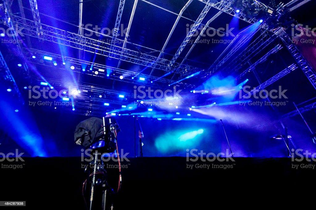 empty stage stock photo