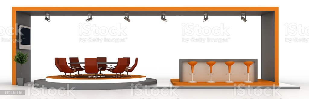 Empty Stand Front View royalty-free stock photo