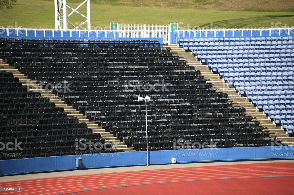 Empty Stands At A Sports Stadium royalty-free stock photo