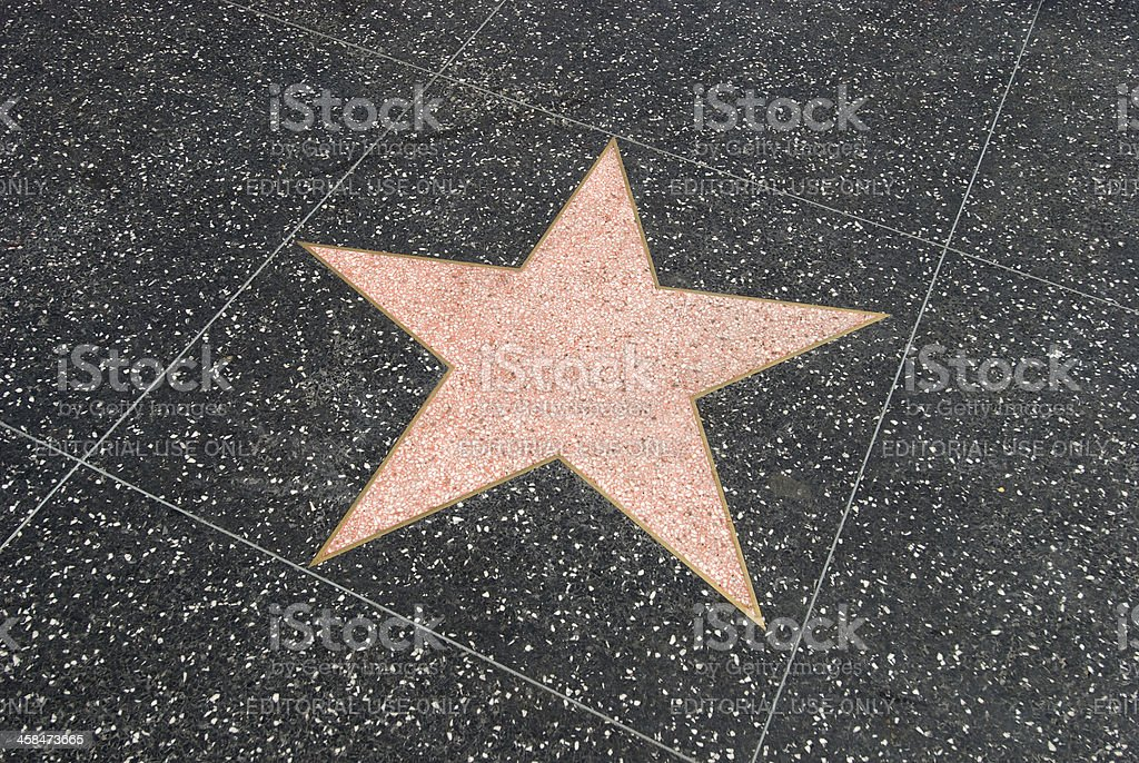 Empty star shape at the Walk of Fame royalty-free stock photo