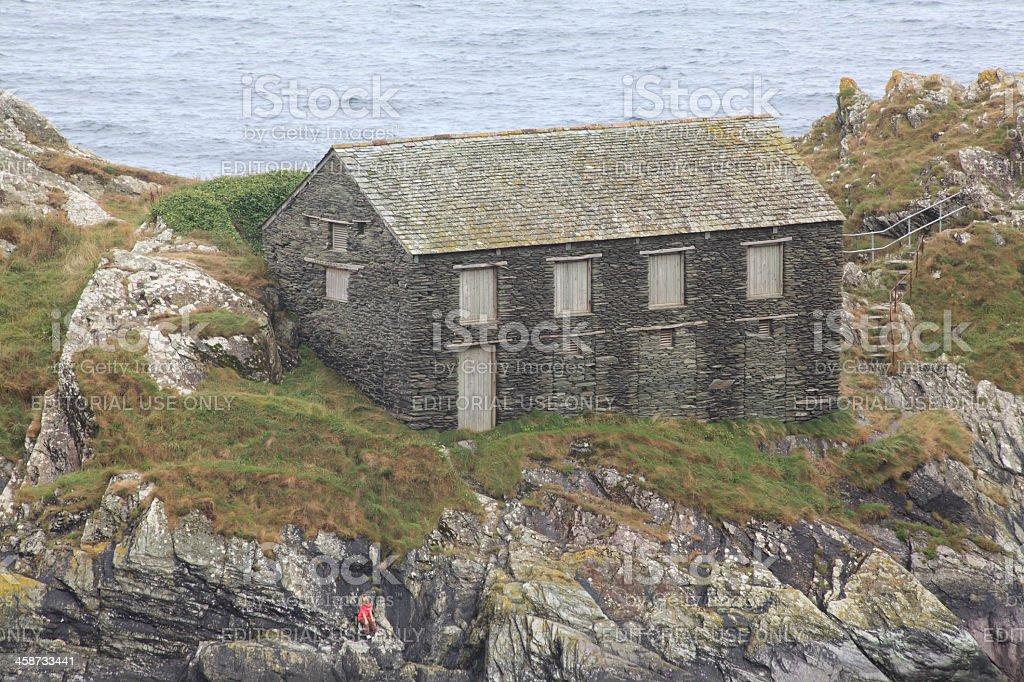 Empty stone house royalty-free stock photo