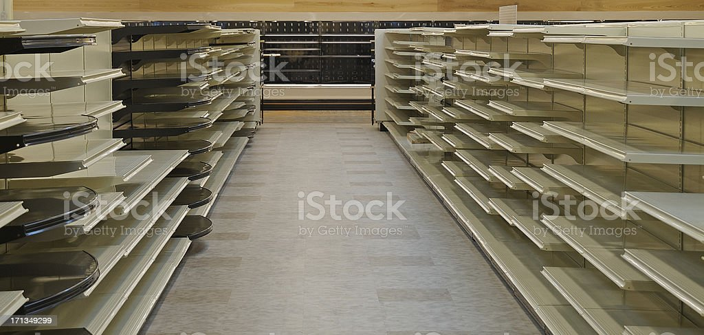 Empty Store Shelves royalty-free stock photo