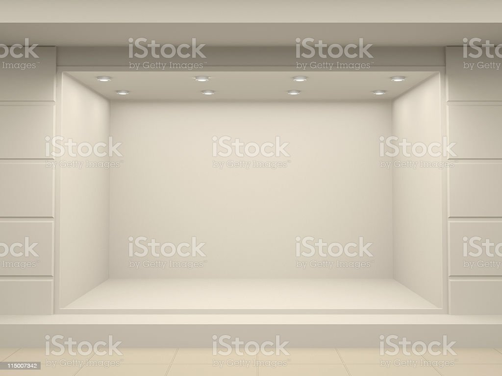 Empty storefront of shop stock photo