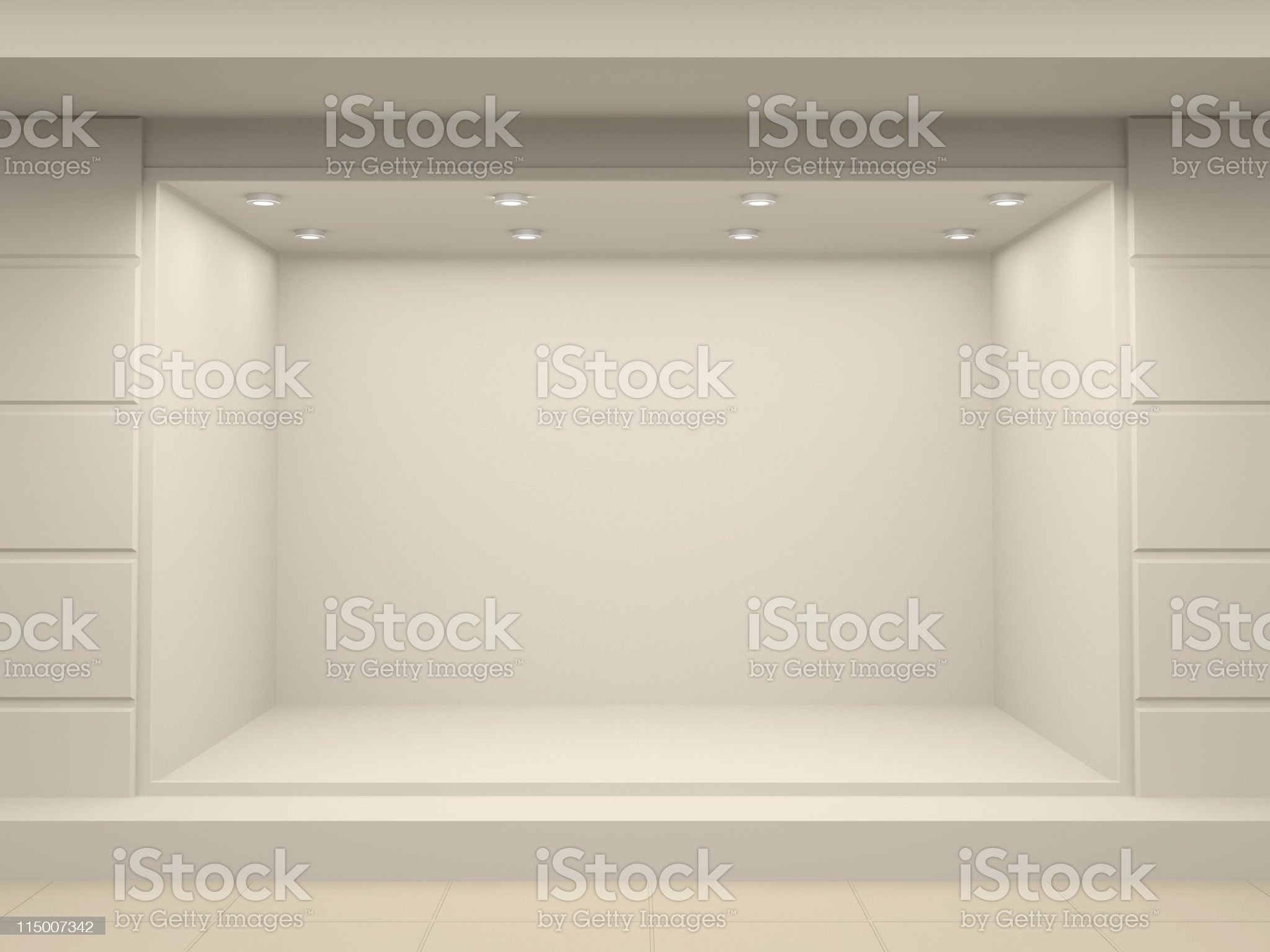 Empty storefront of shop royalty-free stock photo