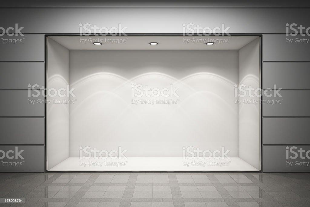 Empty storefront stock photo