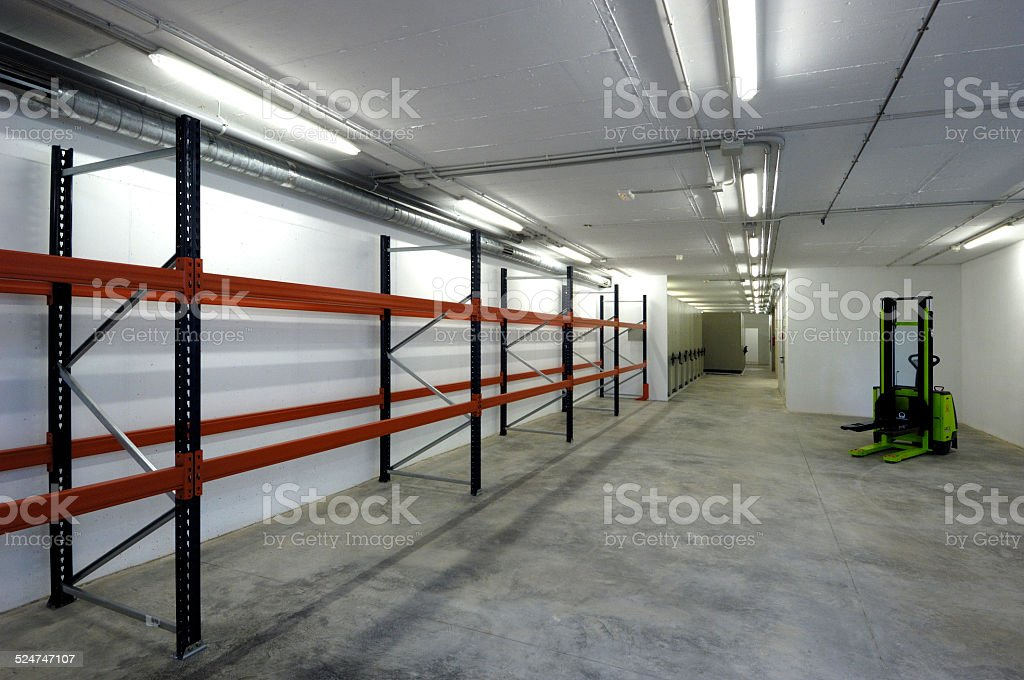empty storehouse stock photo