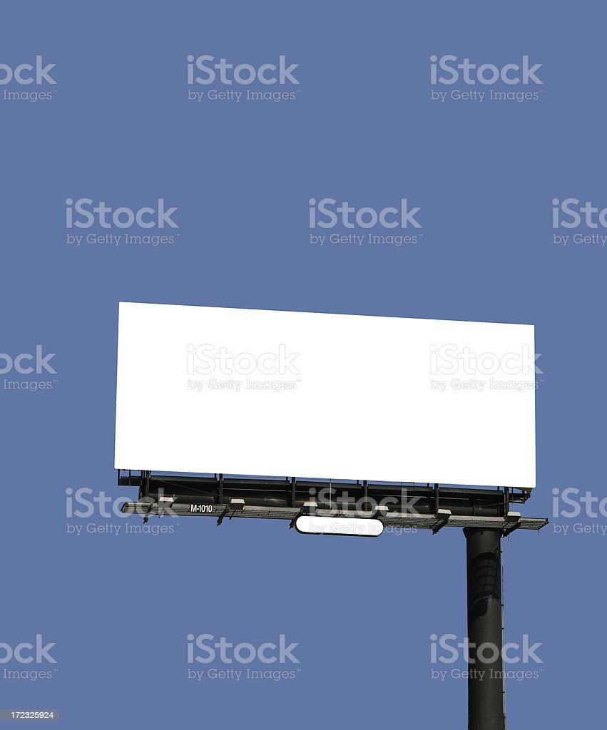 empty street billboard stock photo