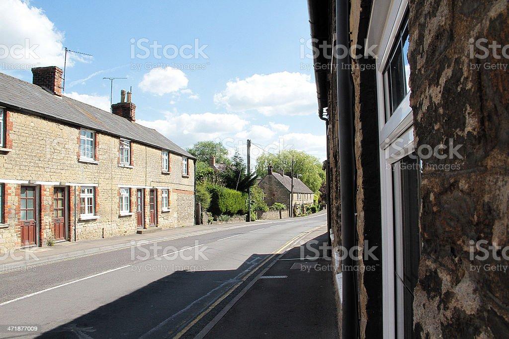 Vuota Street a Lechlade, Gloucestershire foto stock royalty-free