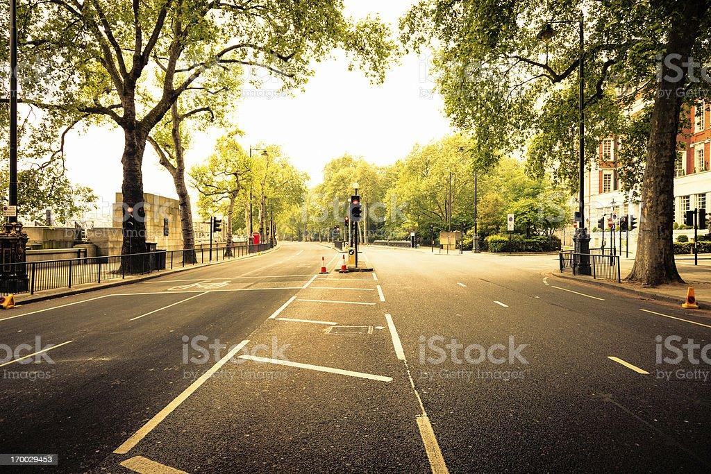 Empty street in London stock photo