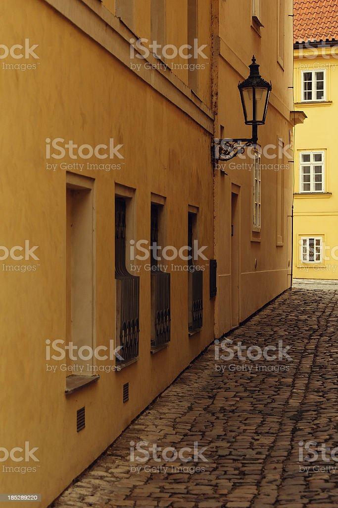 Empty street in Prage royalty-free stock photo